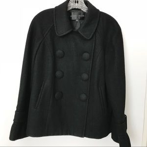 Antonio Melani | Black Wool Blend Peacoat